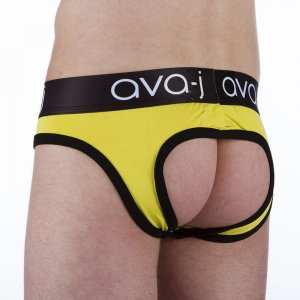 Ava-j Solid Jock Brief Jock Strap Underwear Kiddo Yellow