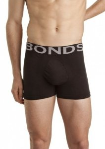 Bonds Side Seamfree Trunk Underwear Black MZS3X