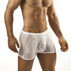 Joe Snyder Boxer Brief 08 Lace White Underwear