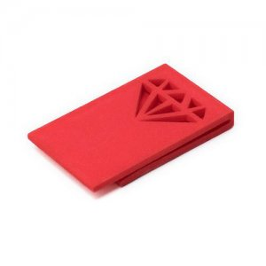 Ulterior Motive Diamond Money Clip Crimson Red