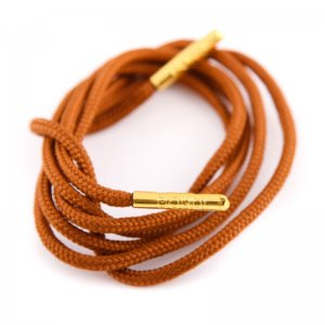 Bondi Laces Dress Laces Coffee / Gold Tips DRESBR2G