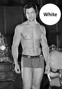 iCollection Contrast Short Boxer Brief Underwear White 8830