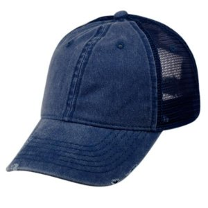 Epoch E Flag Vintage Pigment Dyed Trucker Hat Navy CP033