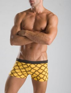 Geronimo Square Cut Trunk Swimwear Yellow 1014b2