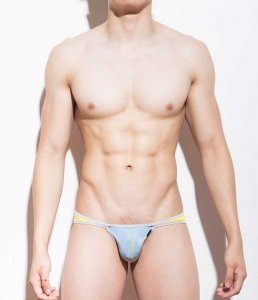 Mategear Ryuk Si Low Rise Front Very Sexy Ultra Bikini Underwear Light Blue