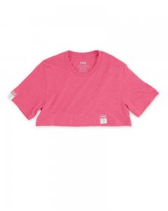 The Well Branded Classix Max Crop Top Short Sleeved T Shirt Neon Pink
