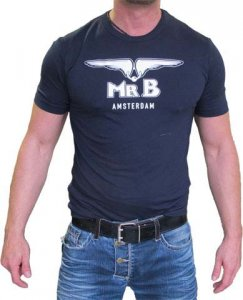 Mister B Logo Glow Short Sleeved T Shirt Blue 402300