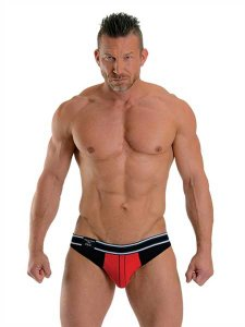 Mister B Urban Manhattan Jock Strap Underwear Red/Black 820230