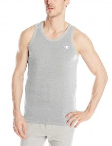 Champion Athletic Cotton Jersey Tank Top T Shirt Grey T8271