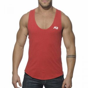 Addicted Vintage Low Rider Tank Top T Shirt Red AD216