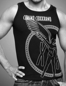 Coxxxano Sporty Side Logo Tank Top T Shirt Black 157T106
