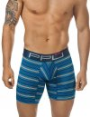 PPU Stripe Boxer Brief Underwear Blue 1522