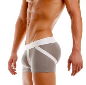 Modus Vivendi Double Boost Jock Boxer Brief Underwear Grey 09022