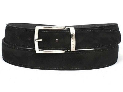 Paul Parkman Belt Black Suede B06-BLK