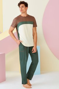Doreanse Arc Tritone Short Sleeved T Shirt & Pants Set Loungewear 4518