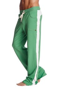 4-rth Eco Track Pants Bamboo Green/White