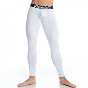 Gigo WHITE BLACK Extra Long Boxer Long Underwear Pants G1104...