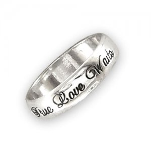 Personalized Men's Jewelry Rounded Polished Script Sterling Silver Purity Ring 108-14-043-02