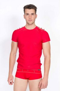 Lookme Marker Short Sleeved T Shirt Red 713-81