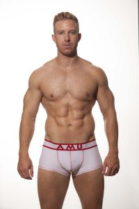 AMU Modal Medium Leg Boxer Underwear White