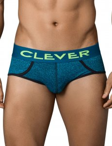Clever Eccentric Piping Brief Underwear Green 5351