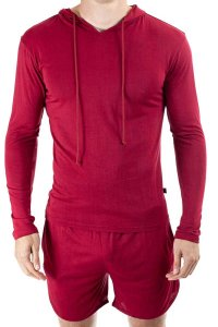 L'Homme Invisible Hoodie Long Sleeved Sweater Red SP129-EAS-...