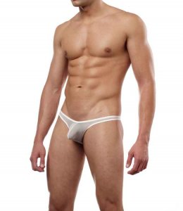 Cover Male Pouch Enhancing Thong Underwear Sheer White 202