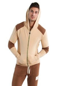 4-rth Edge Crossover Hoodie Sweater Sand/Chocolate