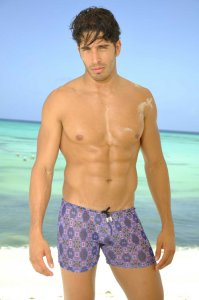 Kiniki Luca Tan Through Shorts Square Cut Trunk Swimwear LUNS