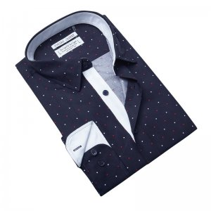 Jordan Jasper Dot Matrix Long Sleeved Shirt Navy JJ462