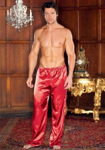 iCollection Satin Pants Red 8802