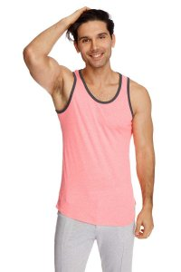 4-rth The Perfect Tank Top T Shirt Coral Slub