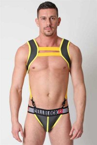 CellBlock 13 Cobra Neoprene Jock Strap Underwear Yellow CBU066