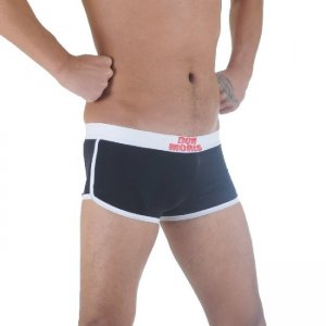 Don Moris Contrast Trim Boxer Brief Underwear Black/White DM291138