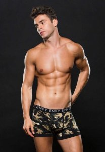 Envy Camo Logo Elastic Boxer Brief Underwear Green E053