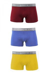 Pierre Cardin [3 Pack] Matteo 300 Boxer Brief Underwear Blue & Yellow & Red