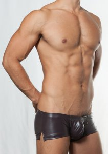 Toot Leather Like Stretch Nano Trunk Underwear Brown NB86E385
