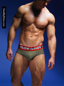 Frank Dandy Hank Brief Underwear Army Green 10247-216