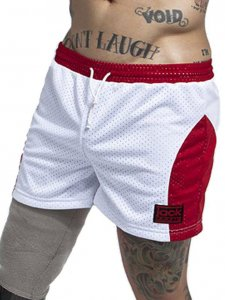 Jack Adams Air 14 Gym Shorts White/Red 402-113
