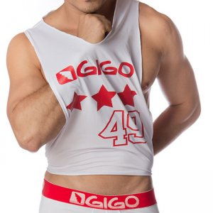 Gigo STAR WHITE Wide Tank Top T Shirt G10101