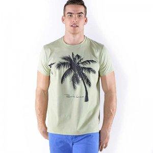 Roberto Lucca Cristiano Regular Fit Short Sleeved T Shirt Army Green 80219-00320