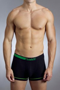 Baskit Luxe Low Rise Boxer Brief Underwear Black LX1402