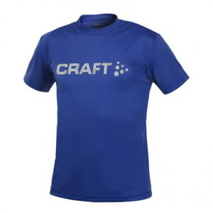 Craft Active Run Logo Short Sleeved T Shirt Olympia Blue 198921