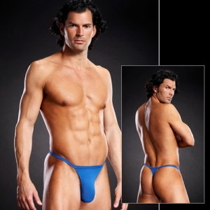 Clearance Blue Line Performance Microfiber T Back Thong Underwear Royal Blue BLM024