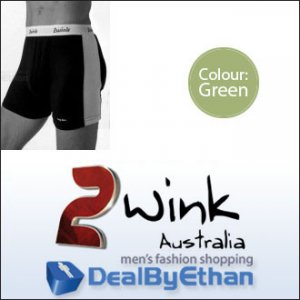 2wink Australia Solid Longbox Long Boxer Brief Underwear Green