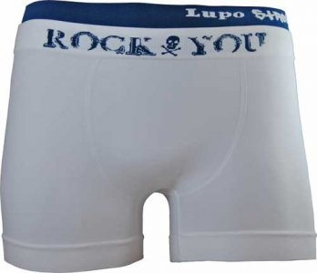 Lupo Street Rock You Microfiber Boxer Brief Underwear White 675-1