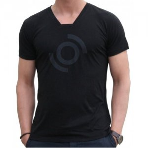 Blunt Neck Halo Short Sleeved T Shirt Black H-M-SS-BL