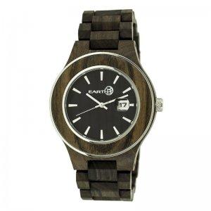 8d79e73b95b Earth Wood Cherokee Bracelet Watch w Magnified Date - Dark Brown ETHEW3402