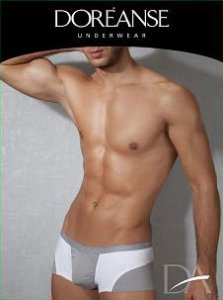 Doreanse Two Tone Boxer Brief Underwear Grey/White 1768