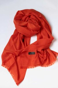 L'Homme Invisible Sumptuous Cachemere Scarf Orange